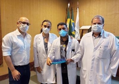 Hospital de Messejana recebe capacetes Elmo para tratamento de pacientes com Covid-19