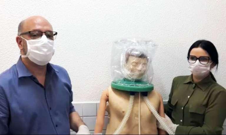 Ceará desenvolve capacete de baixo custo que minimiza avanço de dificuldades respiratórias em pacientes de Covid-19