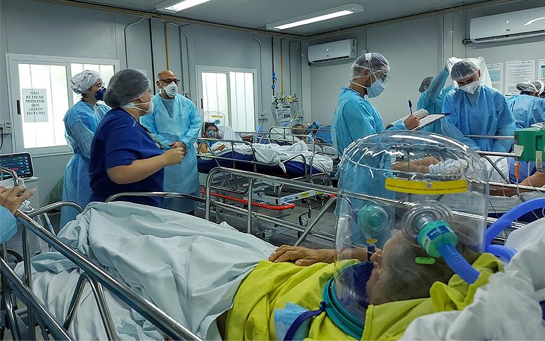Hospital de Messejana destina leitos exclusivos para pacientes com capacete Elmo; unidades reduzem em 60% necessidade de intubação