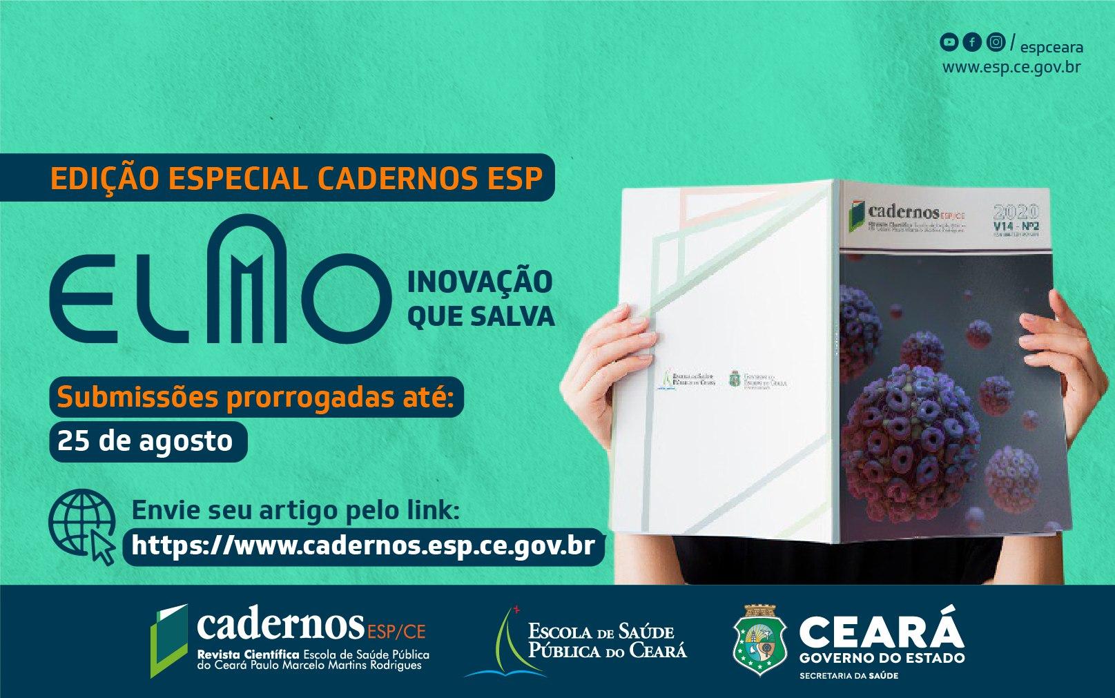 Elmo Inovação que Salva: Chamada internacional da Cadernos ESP é prorrogada até 25/08